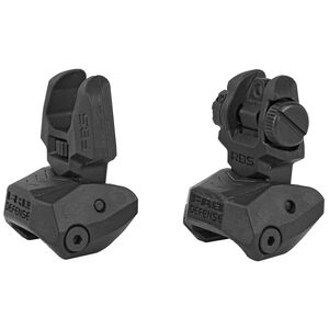 FAB Defense AR-15 Folding Sight Set Same Plane Polymer Black