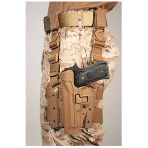 BLACKHAWK! SERPA Beretta 92, 96, Taurus PT-92 Level 2 Tactical Holster Polymer/Nylon Left Hand Coyote Tan 430504CT-L