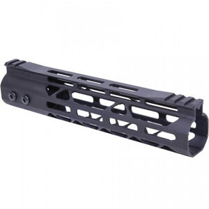 "Guntec USA AR-15 9"" MOD LITE Skeletonized Series M-LOK Free Floating Handguard with Monolithic Top Rail Aluminum Anodized Black"
