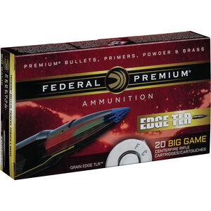 Federal Edge TLR 7mm Rem Mag Ammunition 20 Rounds 155 Grain Edge TLR Bonded Projectile 3000fps
