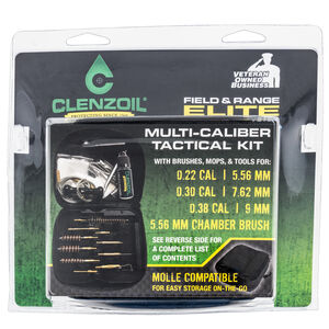 Clenzoil Field & Range Multi-Caliber Handgun/Rifle Tactical Cleaning Kit Black Brass