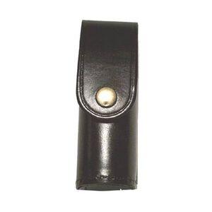 Stallion Leather Mk-3 Pepper Spray Holder Plain Nickel Snap Black
