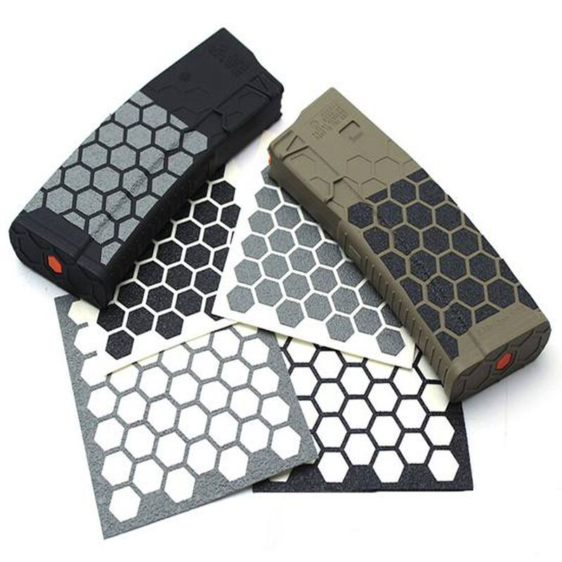 Hexmag Grip Tape for AR-15 Hexmags Black 46 Hex Shapes HXGTBLK