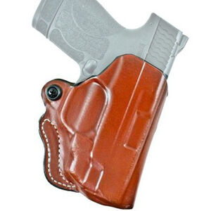 DeSantis Mini Scabbard S&W M&P Shield with Integrated Laser Belt Holster Right Hand Leather Tan