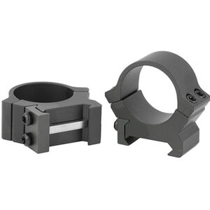 Leupold PRW2 Permanent Weaver/Picatinny Style Scope Rings 34mm Tube Medium Height Machined Steel Matte Black