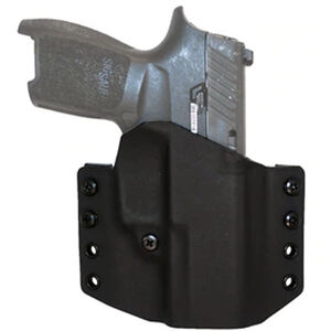 """Comp-Tac Warrior Holster SIG Sauer P365 OWB Belt Slide Right Hand 1.5"""" Belt Loops Kydex Black"""