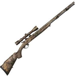 "Traditions Pursuit G4 Ultralight Black Powder Rifle .50 Caliber 26"" Fluted Chromoly Barrel Alloy Frame RealTree Edge Synthetic Stock and Barrel with 3-9x40 Scope"