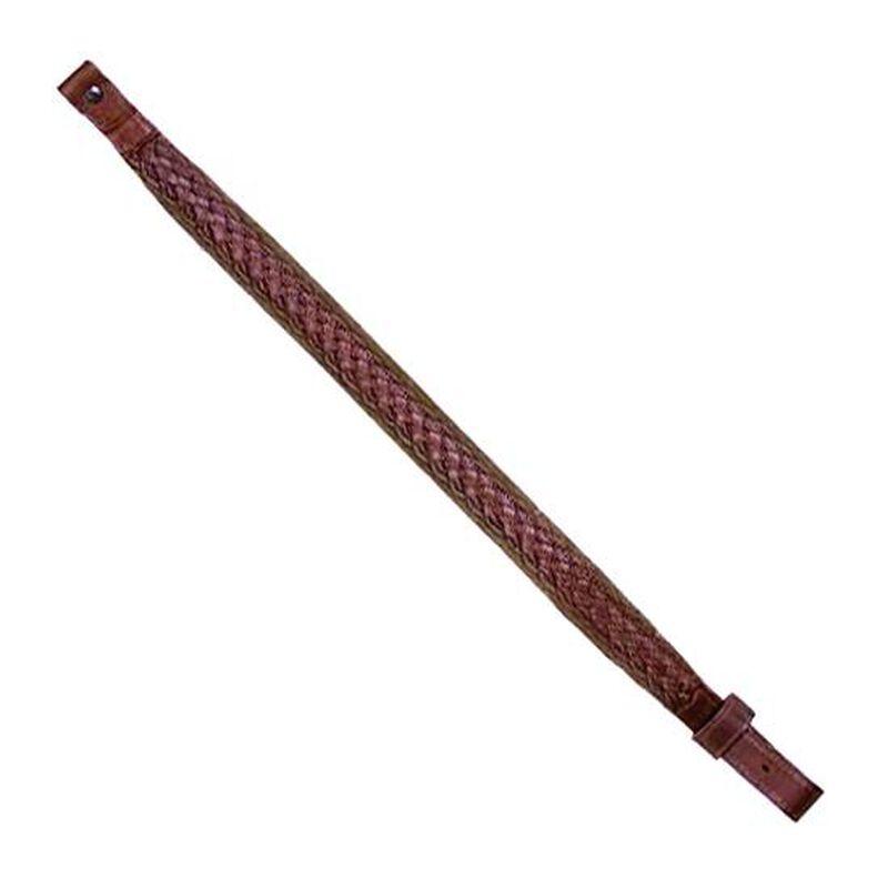 Allen, Basket Weave Rifle Sling, Leather, Brown