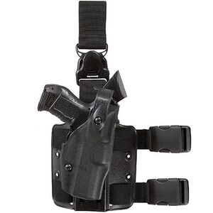 Safariland Model 6305 Tactical Holster with Quick Release Leg Harness Right Hand GLOCK 19 STX Tactical Black Finish 6305-283-131
