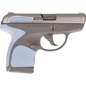 "Taurus Spectrum .380 ACP Semi Auto Pistol 2.8"" Barrel 6 Rounds Gray Polymer Frame with Serenity Inserts Stainless Steel Finish"