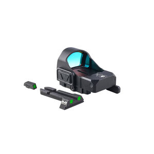 Meprolight MicroRDS Red Dot Micro Sight With Glock Quick Detach Adapter and Backup Sights Black ML880500