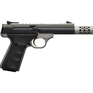 "Browning Buck Mark Field/Target Micro SR .22 LR Semi Auto Rimfire Pistol 4.4"" Threaded Barrel 10 Rounds Picatinny Top Rail Synthetic Grips Gray/Black Finish"