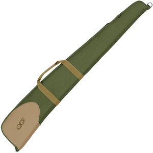 """Bob Allen Classic Series Shotgun Case 52"""" 600-Denier Nylon Exterior Foam Padding Wrap Around Handles Nylon Zipper Olive/Khaki"""