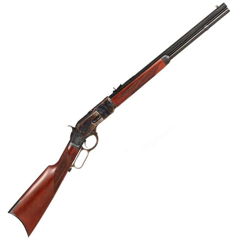 """Taylor's & Co 1873 Comanchero Lever Action Rifle 45 LC 20"""" Octagonal Barrel 10 Rounds Checkered Straight Stock Blued"""
