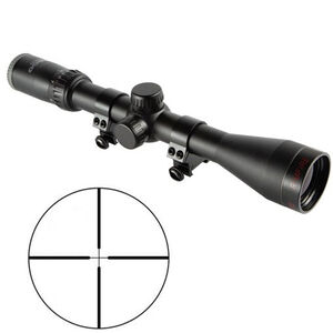 "Tasco 4x32mm Rimfire Riflescope with Rings 1"" Tube Truplex Reticle .25 MOA Per Click Fixed Parallax Matte Black"