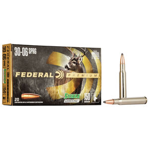 Federal Premium Sierra GameKing .30-06 Springfield Ammunition 20 Rounds 150 Grain Sierra GameKing Boat Tail Soft Point 2910fps