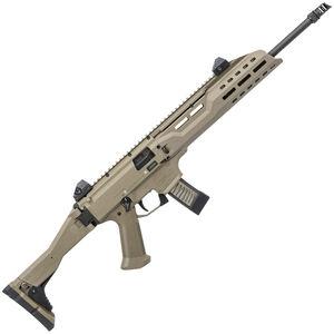 "CZ Scorpion EVO 3 S1 Carbine Semi Auto Rifle 9mm Luger 16.2"" Barrel 20 Rounds M-LOK Hand Guard Collapsible/Folding Stock Polymer Frame FDE Finish"
