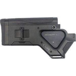 HERA USA CQR Stock AR-15 Replacement Fixed Stock California Compliant Mil-Spec Polymer Black