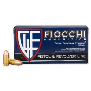 Fiocchi .380 ACP Ammunition 50 Rounds, JHP, 90 Grains