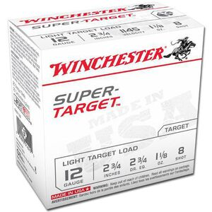 "Winchester 12 Ga 2.75"" #8 Lead 1.125 oz 25 Rounds 1145 fps"