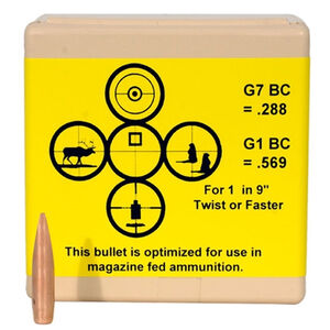 "Berger Tactical Bullets 6.5mm Caliber .264"" Diameter 130 Grain AR Hybrid Open Tip Match Tactical Projectile 100 Per Box 26195"