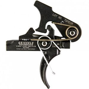 Geissele Automatics AR-15/AR-10 Single-Stage (SSP) Trigger M4 Curved .154 Pin 3.5 lb Pull Steel Black Oxide