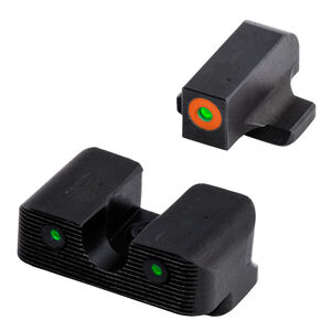 TRUGLO Tritium Pro Night Sights with Orange Focus Ring for S&W Shield 380 EZ Only
