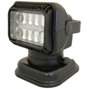 Golight GXL Fixed LED Spotlight 6000 Lumen 9-32 Volt DC Input Mounting Cradle Powder Coated Aluminum Body Black 4411