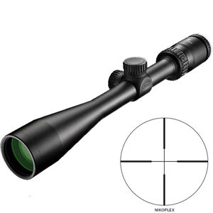 "Nikon Prostaff P3 4-12x40 Riflescope Non-Illuminated Nikoplex Reticle 1"" Tube .25 MOA Fixed Parallax Matte Black"