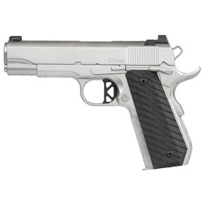 "Dan Wesson V-Bob Commander Stainless 1911 .45 ACP Semi Auto Pistol 4.25"" Barrel 8 Rounds Fixed Front Night Sight/U-Notch Rear G10 Grips Matte Bead Blasted Finish"