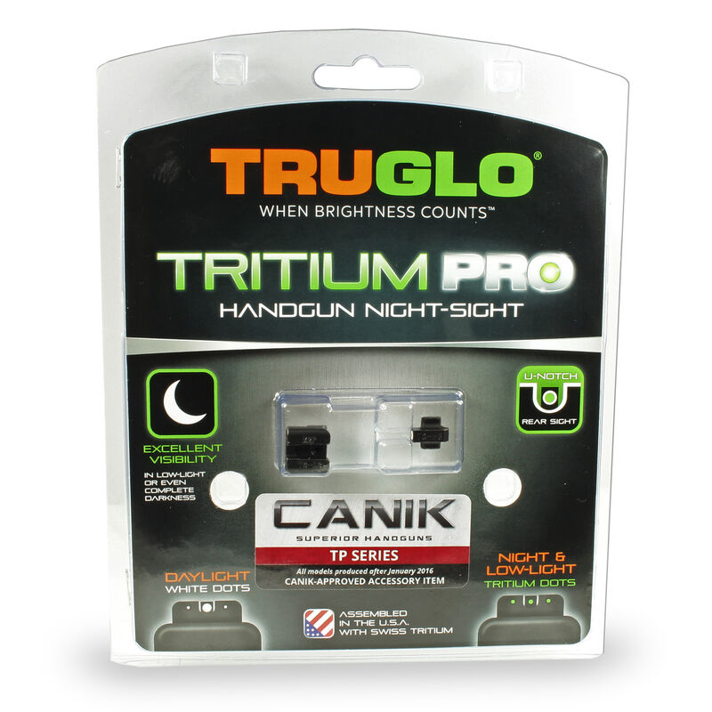 TruGlo Tritium Pro Night Sights for Canik TP Series