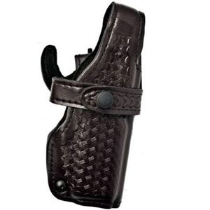 Safariland 070 SIG Sauer P228 SSIII Level III Mid Ride Duty Holster Right Hand Leather Basketweave Black 070-74-181