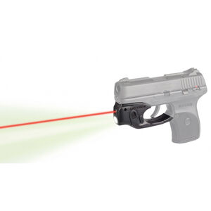 LaserMax Centerfire Light/Laser Sight System Red Laser/100 Lumen Mint Green Light Ruger LC9/LC380/LCS 1/3N Battery Polymer Housing Matte Black