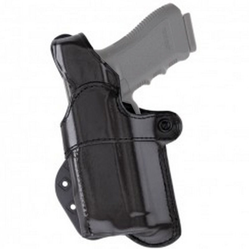 Aker Leather Nightguard Springfield Armory XD 9/40 with M3/ TLR-1/TLR-2 Paddle Holster Left Hand Leather Black