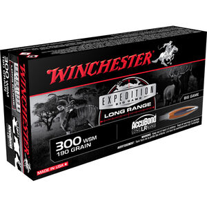 Winchester .300 Winchester Short Magnum Ammunition 200 Rounds Accubond 190 Grains