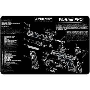 "TekMat ""Walther PPQ"" Armorers Bench Mat 11""x17""x1/8"" Neoprene 17-WALPPQ"