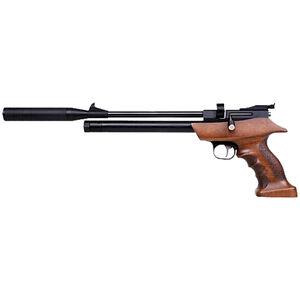 Diana Bandit .177 Caliber PCP Air Pistol Rifled Barrel 725 fps 9 Pellets Adjustable Sights Wood Target Grip Blued Finish