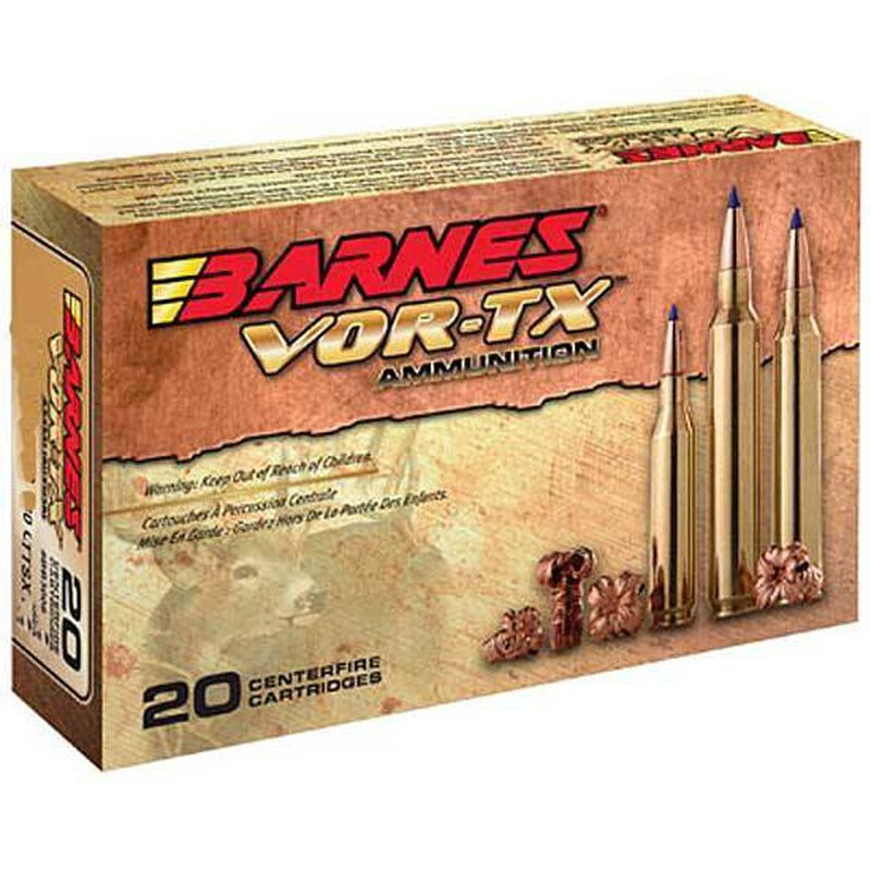 Barnes VOR-TX .300 RUM Ammunition 20 Rounds 165 Grain Lead Free TTSX Boat Tail Bullet 3360 fps