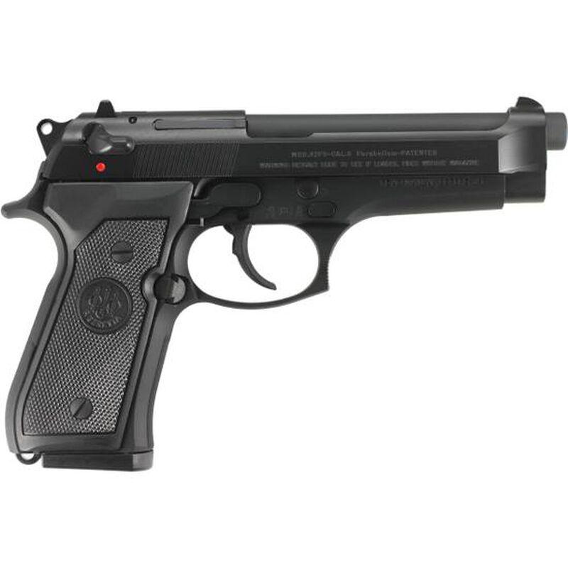 """Beretta 92FS Semi Auto Handgun, 9mm, 4.9"""" Barrel, 15 Rounds, Three Dot Sights, Plastic Grips, Black JS92F300M"""