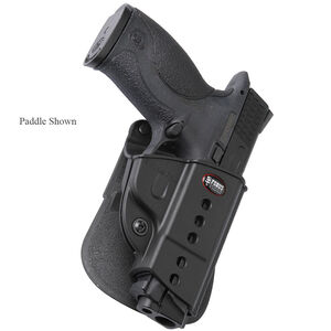 Fobus Evolution Holster CZ P-06/S&W M&P,SD9VE Shield Right Hand Belt Attachment Polymer Black