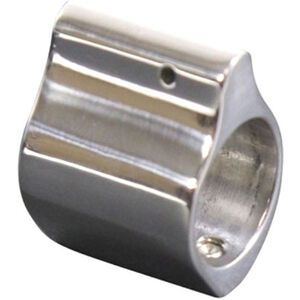 Guntec AR-15 Matte Polished Stainless Steel Low Profile Gas Block 0.750 Diameter Polished Finish