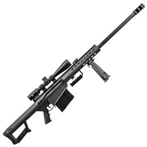 "Barrett M82A1 Scope Combo Semi Auto Rifle .50 BMG 29"" Fluted Barrel 10 Rounds Flip Up Iron Sights Bipod Barrett Muzzle Brake Manganese Phosphate Finish"