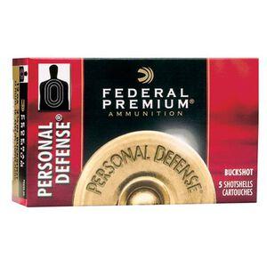 """Federal Personal Defense 12 Gauge Ammunition 5 Rounds 2.75"""" 9 Pellets 00 Buck 1,145 Feet Per Second"""