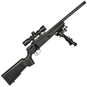 "Savage Rascal Target XP Bolt Action Rimfire Rifle .22 LR 16.125"" Threaded Barrel 1 Round 4x32 Scope and Bipod Black Wood Stock Blued"
