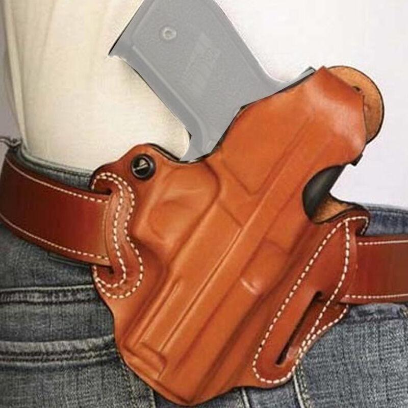 DeSantis Gunhide Thumb Break Scabbard Ruger Security 9 Belt Slide Holster OWB Right Hand Leather Tan