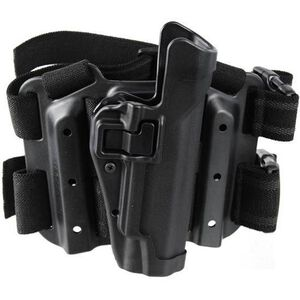 BLACKHAWK! SERPA Level 2 Tactical Drop Leg Holster GLOCK 10mm/.45 S&W M&P Pro Polymer Black 430513BK-R