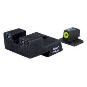 Trijicon HD Night Sight Set 1911 Novak Cut Three Dot Tritium Green With Yellow Front Dot Outline CA128Y