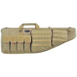 "G-Outdoors G.P.S. Tactical Rifle Case 35"" With External Handgun Case 1000 Denier Heavy Duty Material DuPoint Teflon Coated Tan Finish"