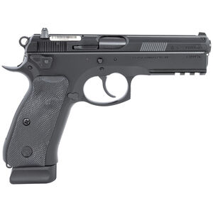 "CZ-USA CZ75 SP-01 Tactical 9mm Luger Semi Auto Pistol 4.60"" Barrel 18 Rounds Fixed 3-Dot Luminescent Sights Steel Frame Rubber Grips Matte Black"