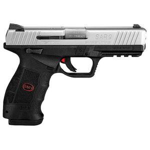 "Sarsilmaz USA SAR 9 Semi Auto Pistol 9mm Luger 4.4"" Barrel 10 Rounds Fixed Sights Striker Fired Accessory Rail Polymer Frame Two Tone Finish"